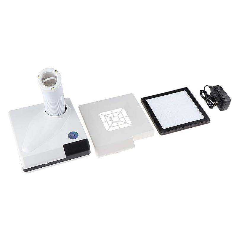 キャメル革新あいさつSM SunniMix ネイルダストコレクター 60W ネイルサロン プロ 吸引クリーナー ファン 全2色 - 白