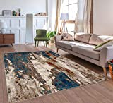 Luxe Weavers Lagos Collection Passion 4x5 Abstract Area Rug