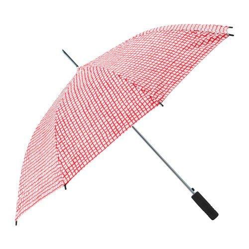 Ikea KNALLA Regenschirm in rot/weiß