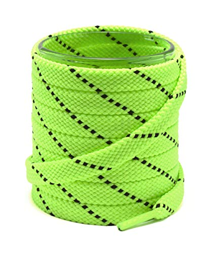 Top 10 best selling list for black and lime green flat shoe laces