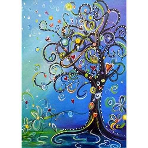 diamond painting albero della vita MXJSUA Pittura Diamante 5D dal Numero Kit