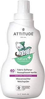 ATTITUDE Baby Fabric Softener, Hypoallergenic, Non-toxic, ECOLOGO Certified, Fluid Ounce, 40 Loads 33.8 Fl Oz Sweet Lullaby