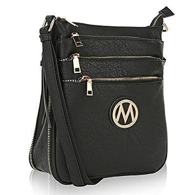 Mia K Collection Crossbody Bags for womens Handbag Adjustable Strap — PU Leather — Crossover Side Messenger Purse Danim