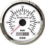 KUS GPS Speedometer Speed Gauge 30Knots 55KM/H with Course for Boat Yachts 85mm