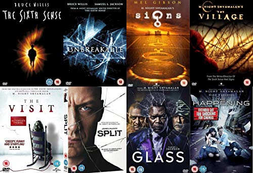 M. Night Shyamalan 8 Movies Collection DVD - The Sixth Sense, Unbreakable, Signs, The Village, The Visit, Split,Glass, The Happening