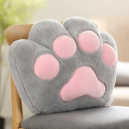 KXCAQ 45cm-70cm Cat Bear Paw Plush Anti Cushion Indoor Stuffed Sofa Colorful Animal Decor Pillow for Children Birthday Present 45x35cm 3