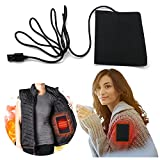 2 Pack USB Heating Pad - Electric Heating Cloth, Heater Pad Shoulder Back Pain Stress Relief Electric Heating Element Film for Vests Shoes Clothes Jacket Waist Protectors