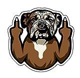 WickedGoodz Funny Bulldog Vinyl Decal - Dog Breed Bumper Sticker - for Laptops Tumblers Windows Cars Trucks Walls