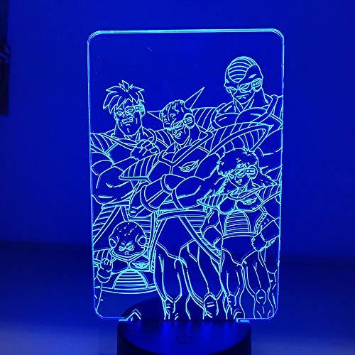 Luz De Noche LED Con luz De Iilusión 3D Dragon Ball Z Frieza Troop Modelado De Acción Modelo De Anime Juguete Para Niños Juego De Dormitorio De Regalo