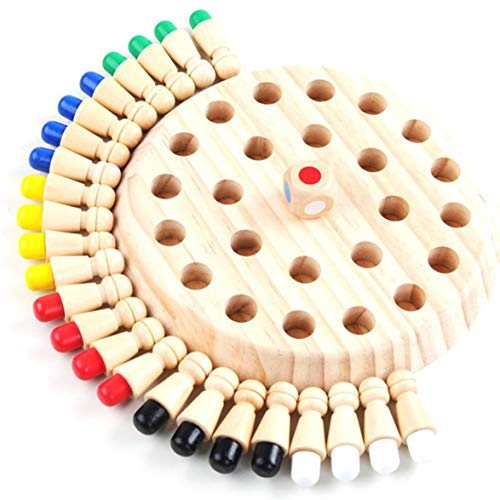 AmiAbi Memory Match Stick Board Chess Game Neutro Madeira Early Learning Learning Puzzle Toy Kids Party Game (Multicolor), Material: Feito de madeira de lótus high-end.