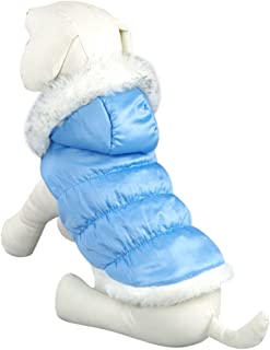 NACOCO Teddy Dog Clothes Winter Cotton-Padded Jacket with Hood Princess Model