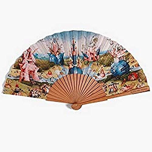 Museo del Prado Abanico El jardín de Las Delicias, Varios Colores, Varilla 27 cm