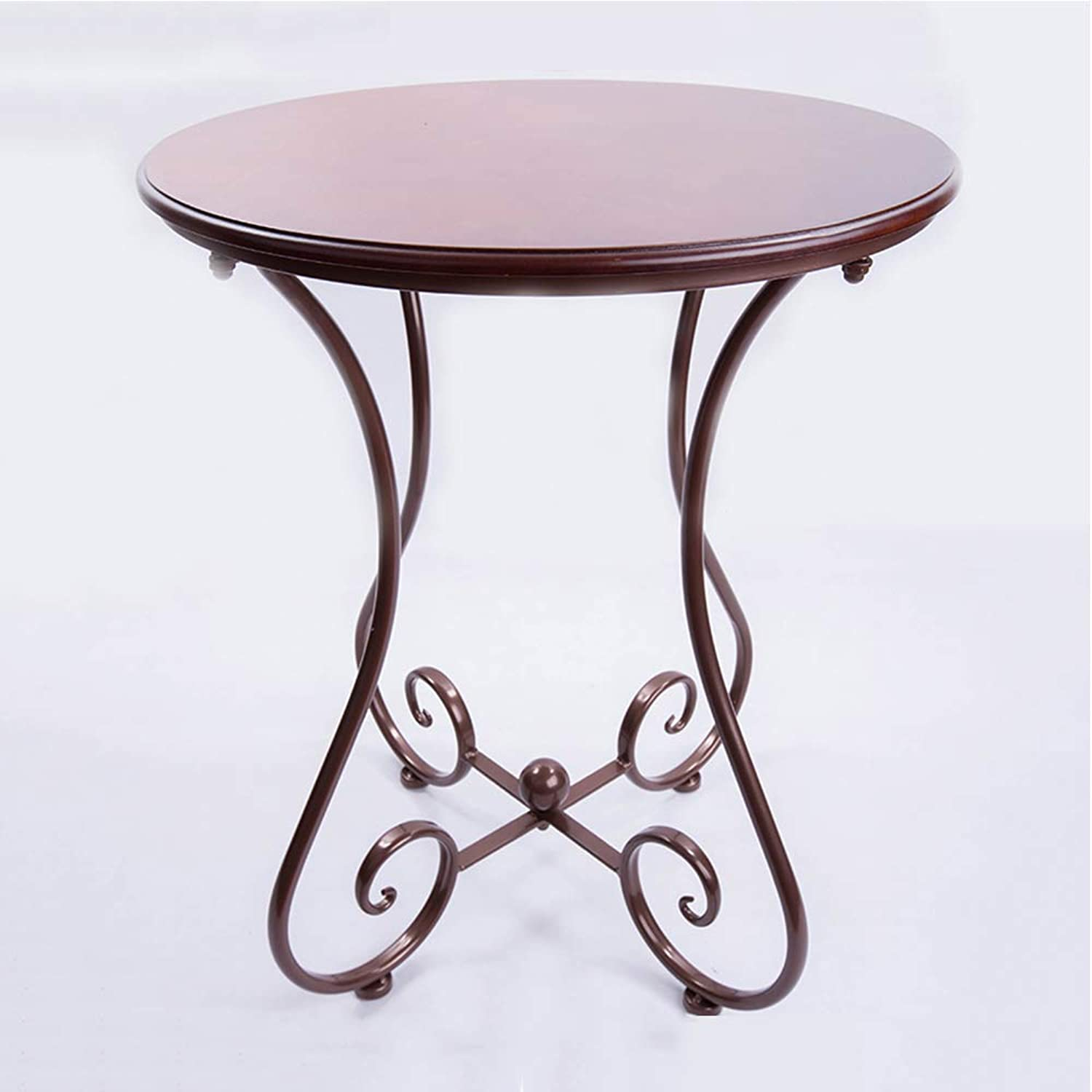 Small Coffee Table MDF Side Table European Small Round Table Multifunctional Sofa Table 3 colors (color   Brown, Size   47  55cm)