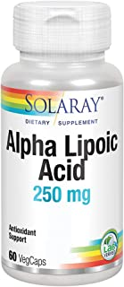 Solaray Alpha Lipoic Acid 250 mg | Healthy Antioxidant Activity & Energy Metabolism Support | Non-GMO & Vegan | 60 VegCaps