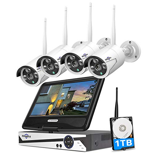 [8CH Expandable] Hiseeu All in one with 10.1' Monitor Wireless Security Camera System,8ch Wireless...