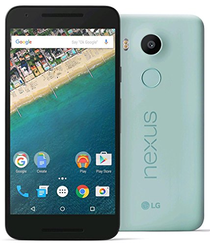 LG Nexus 5X Unlocked Smart Phone, 5.2' Ice Blue, 16GB Storage, US Warranty