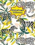 Sticker Album: Blank Sticker Book for Collecting Stickers | Reusable Sticker Collection Album for Kids - Zebra - Gift For Children (Zebra Sticker Albums for Kids)