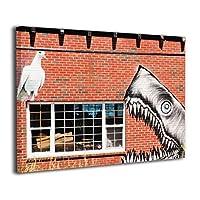 Skydoor J パネル ポスターフレーム シャーク壁画 インテリア アートフレーム 額 モダン 壁掛けポスタ アート 壁アート 壁掛け絵画 装飾画 かべ飾り 30×20