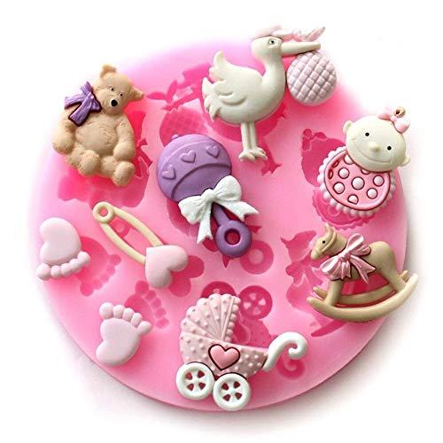 Silicone fondant sucre Figurines bébé naissance Moule à gâteau Moule (kue010)