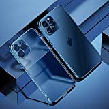 Dhukien Premium TPU Anti-Fingerprint Electroplating Matte Slim Shockproof Case Cover for iPhone 12/12 Pro/12 PRO Max/12 Mini Sea Blue for iPhone 12 PRO Max