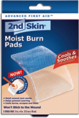 Spenco 2nd Skin Moist Burn Pad Large 3' x 4', Sterile, Odorless, High-water Content Sterile Hydrogel made with 95% Pure Water (Box of 3 Each)