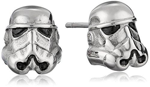 Star Wars Jewelry - Pendientes unisex de acero inoxidable 3D Storm Trooper