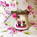 Grazie Maestra o Maestro Candela con disegno e ciondolo a scelta personalizzata con il nome della maestra in cera di soia regalo per la Maestra Ritorno a scuola Regalo di Natale