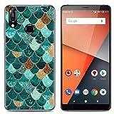 Yrlehoo Para Vodafone Smart X9, Cuero Funda de Silicona Suave para Vodafone Smart X9 Protectora Cover Case, Escamas Verdes