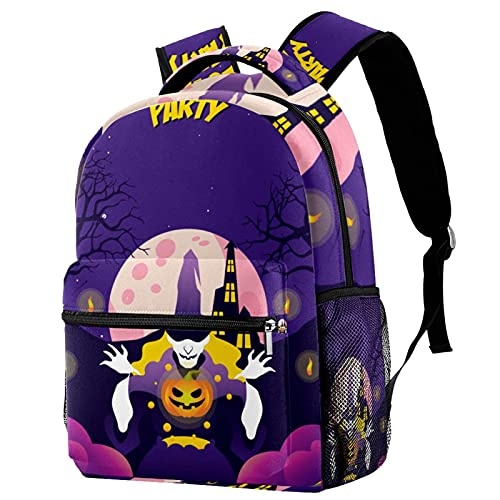 XiangHeFu Mochila escolar para niñas niño caminata al aire libre bolsa de viaje mochila Cambiador de interruptores de fiesta de Halloween Mochila estampada