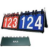 AKA Premium 6 Digit Sport Scoreboard/Portable-Tabletop-Flipper-Easy Flip Score Keeper