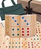 Jaques of London Giant Wooden Dominoes | Garden Games | Adults and Kids Games | Jumbo Dominoes Set - Since 1795