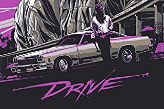 Tomorrow sunny A166 drive film Ryan Gosling movie posters Art Wall Pictures for Living Room in Canvas fabric cloth Print