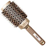 Baasha Extra Large Round Brush 3 Inch, Hair Brush With Boar Bristle, Dry Round Brush for Long Hair, Boar Bristles Round Brush For Blow Drying, Large Ceramic Brushes for Curly Hair, Ceramic Round Barre