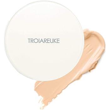 TROIAREUKE H+ Cushion Foundation, 21 Light Beige - SPF50+ PA++++ Healing Skincare Cushion for Dry Skin