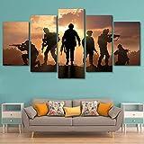 WMWSH Mode Kunst Wanddekoration Soldat Sonnenuntergang