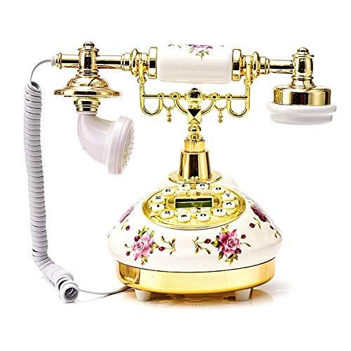 greatdaily Antikes Telefon Alte Mode Nostalgie Telefon| Retro Desktop Klassisch Keramik Telefon Für Sterne Hotel, Kunstgalerie, Hause,Büro, Haus Decor