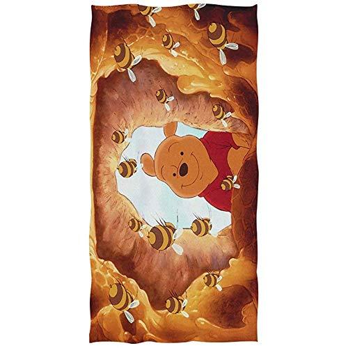 Leo-Shop Winnie The Pooh Anime Toalla de baño Toalla de Playa de Gran tamaño 51 Pulgadas x 32 Pulgadas Uso como Yoga Viaje Camping Gimnasio Toallas de Piscina