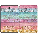 Mertak Case Compatible with Samsung Galaxy Tab S7 S6 Lite S5e S4 A7 10.4 A 10.5 10.1 2019 S3 9.7 S2 8.0 Boho Chic Flowers Decorated Planks Slim Design Wood Clear Blossom Vintage Smart Cover