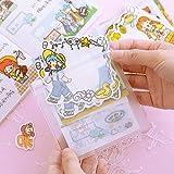 Pegatinas Decorativas grabables Set Scrapbooking Stick Label Diary Stationery Album Cute Girl Envelope Sticker1 Bag