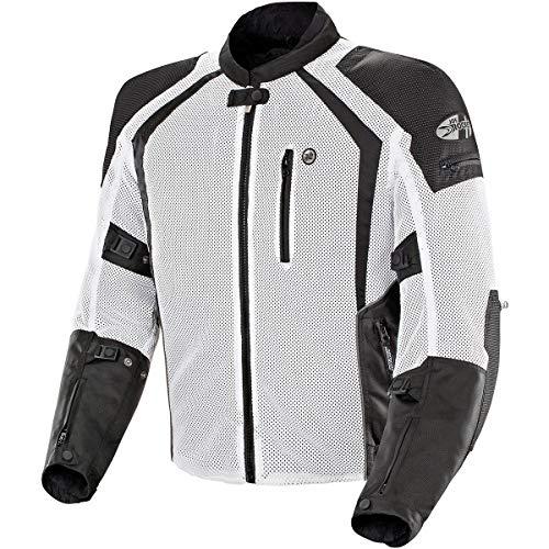 Joe Rocket 1516-4703 Phoenix Ion Men's Mesh Motorcycle Jacket (White, Medium)