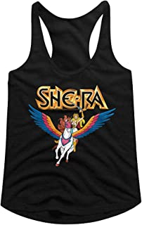 Masters of The Universe TV Series She-Ra & Swiftwind Black Ladies Tank Top Tee