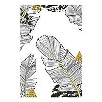 黒と白の植物緑の葉キャンバス絵画ゴールドアートプリントポスター画像寝室のリビングルームのためのモダンなミニマリスト70x100cmフレームレス