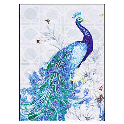 HAPPIShare 5D DIY Full Diamond Painting Rhinestone 3D Peacock Pictures of Crystals Embroidery Kits Arts, Crafts & Sewing Cross Stitch