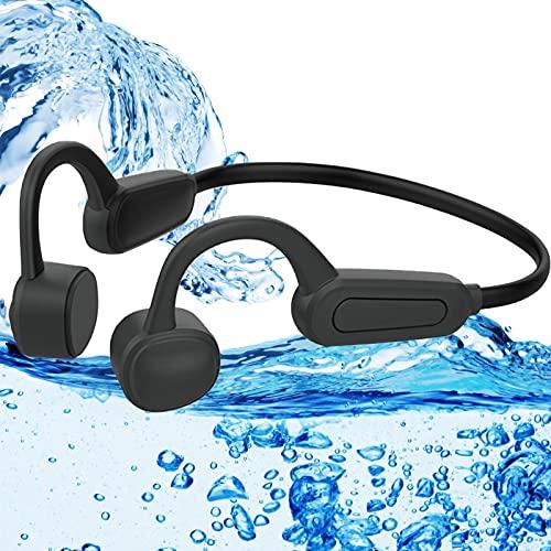 Ohrhörer, wasserdichter MP3-Player 16, GB drahtlose Knochenleitungs-Ohrhörer spielen Musik kontinuierlich unter Wasser ab Musik-Player 12 Stunden, Reiten, Laufen und Gehen