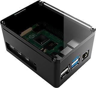 anidees Aluminum Extra High Pi case for Raspberry Pi 4 Model B - Black(AI-PI4-BB-H)