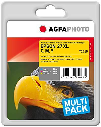 AgfaPhoto APET271TRID Remanufactured Tintenpatronen Pack of 3