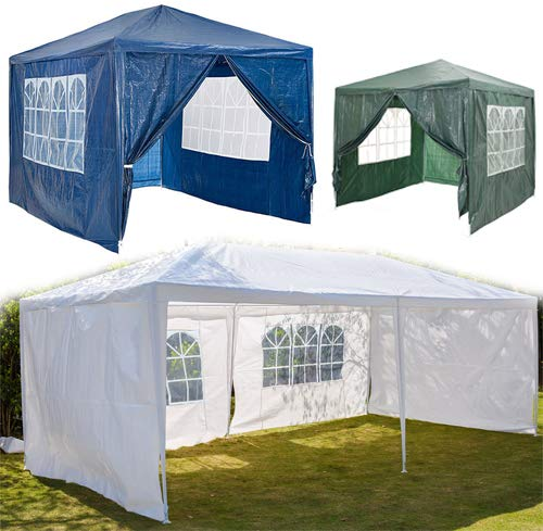For 3x3m 3x6m Gazebo Canopy Marquee Tent Replacement Exchangeable Side Panel Wall Panels Walls - Blue - Pack of 2