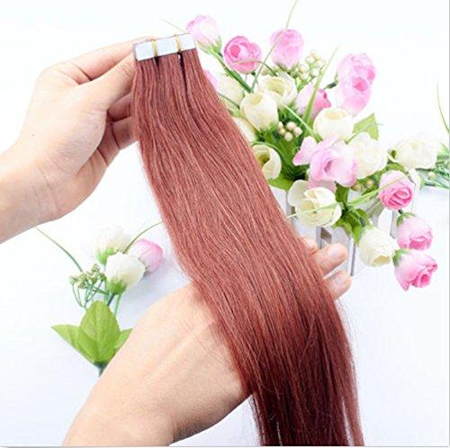 Extensions de cheveux Remy en cheveux naturels – 50 g 20 unités par lot, à raccordement invisible et sans couture, à ruban adhésif, semi-permanent