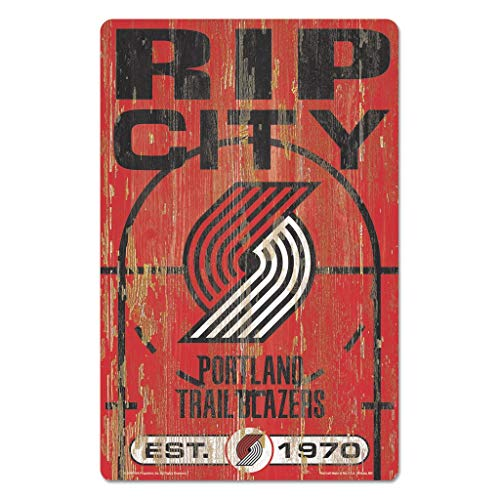 Best Bargain WinCraft NBA Portland Trail Blazers 72521010 Wood Sign, 11 x 17, Black