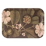 Bandeja rectangular de flores de bambú natural negra de 43x32 cm - LOLAhome